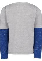 See-Saw - Printed Twofer T-Shirt Grey Melange