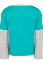 See-Saw - Printed Twofer T-Shirt Mid Green