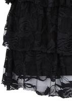Rebel Republic - Lace Tiered Skirt Black