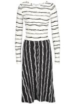 RUFF TUNG - Contrast Holly Dress Black and White