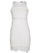 London Hub - Mini Scallop Lace Dress Milk