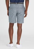 Brave Soul - Chambray Shorts Pale Blue