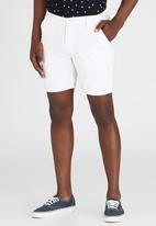 Brave Soul - Above the Knee Shorts White