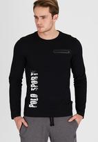 Polo Sport - L/S Urban Side Print Tee Black