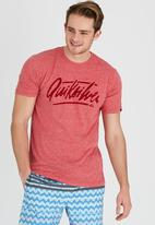 Quiksilver - Drunk Script T-Shirt Red