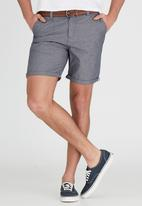 Brave Soul - Above the Knee Turn Up Shorts Grey