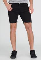 Brave Soul - Skinny Fit Denim Shorts Black
