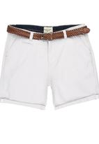 Brave Soul - Above the Knee Turn Up Shorts Stone