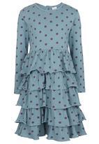 Just chillin - Dots Dress Mid Green