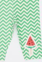 Soobe - Watermelon  Leggings Light Green