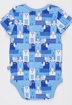 Soobe - Blue Print  Bodysuit Pale Blue