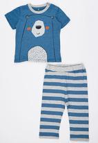 Soobe - Printed Bear Pyjamas Set Blue