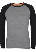 Superdry. - Orange Label Long Sleeve T-Shirt Grey Melange
