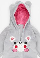 POP CANDY - Pup Hooded Zip Jacket Grey