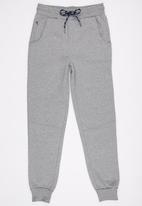 SOVIET - Boys Cuffed Track Pants Grey
