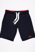 Superdry. - Orange Label Lite Grit Shorts Navy