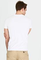Superdry. - Orange Label Vintage Embroidery Vee T-Shirt White
