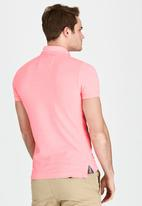 Superdry. - Grindle Short Sleeve Pique Polo Pale Pink