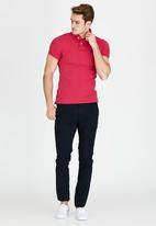 Superdry. - Short Sleeve Classic Pique Polo Dark Pink