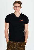 Superdry. - Orange Label Vintage V-Neck T-Shirt Black