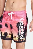 Superdry. - Premium Print Neo Swim Shorts Multi-colour