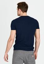 Superdry. - Orange Label Vintage V-Neck T-Shirt Navy