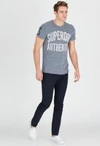 Superdry. - Authentic Rebel T-Shirt Grey