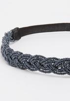 Joy Collectables - Metallic Hairband Dark Grey