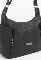 Moda Scapa - Snake Print Cross-body Bag Black