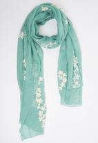 Joy Collectables - Floral Scarf Mid Green