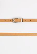 Joy Collectables - Skinny Belt Tan