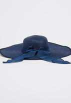 Joy Collectables - Sun Hat with Bow Detail Navy