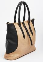 Moda Scapa - Colourblock Tote Bag Beige