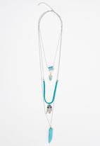 Joy Collectables - Owl Layered Pendant Necklaces Turquoise