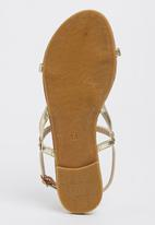Footwork - Sandals with Metal Detail Gold