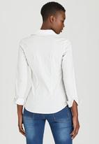c(inch) - Structured Shirt White