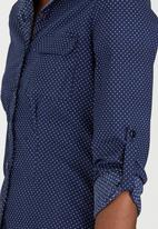 c(inch) - Structured Shirt Navy