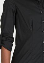 c(inch) - Structured Shirt Black