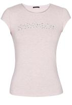 SISSY BOY - Adara Logo Tee with Diamante Trim Pale Pink