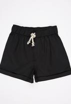 See-Saw - Twill Shorts Black