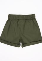 See-Saw - Twill Shorts Khaki Green