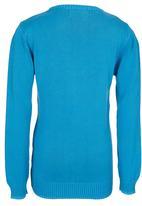 POLO - Boys Long Sleeve Knit Mid Blue