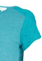 See-Saw - Top with Anglaise Detail Mid Green
