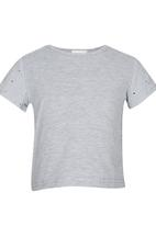 See-Saw - Top with Anglaise Detail Pale Grey