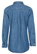 POLO - Girls Denim Shirt Blue
