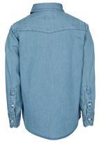 POLO - Light Blue Denim Shirt Pale Blue