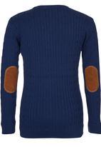 POLO - Boys Long Sleeve Knit Navy