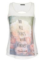 SISSY BOY - Kindness Printed Mesh Vest Milk