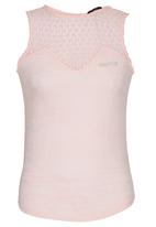 SISSY BOY - Olympia Vest with Crochet Pale Pink