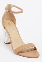 Daniella Michelle - Carine Ankle-strap Heels Tan